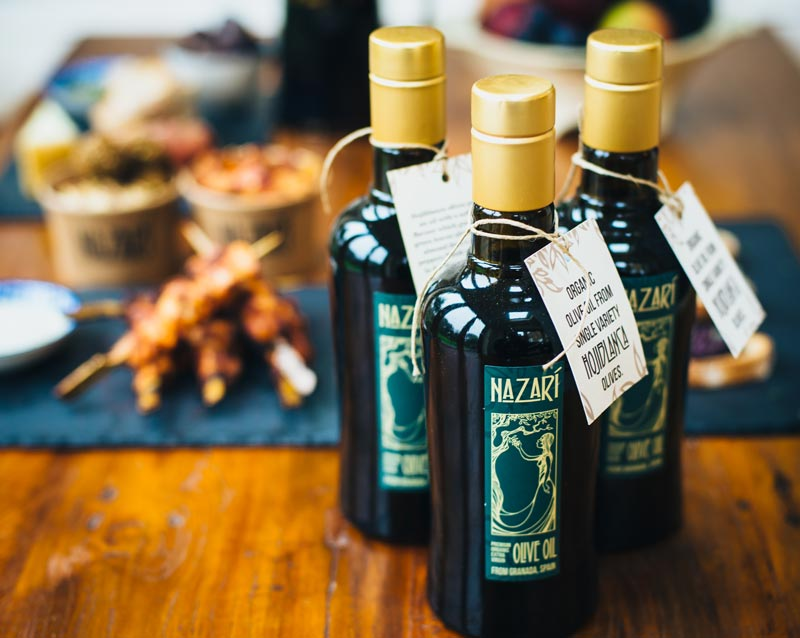 Nazari food - street falafel food in London, private events in London - Our olive oil