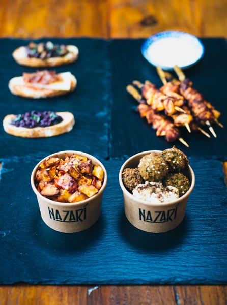 Nazari food - street falafel food in London, private events in London - Private events
