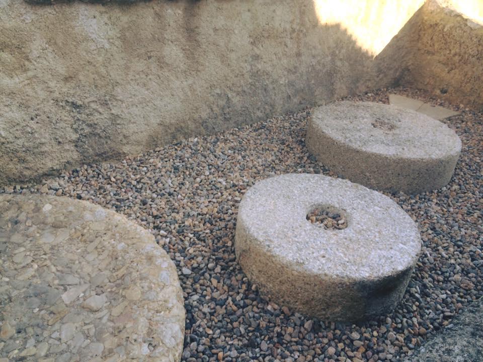 Mill stones.