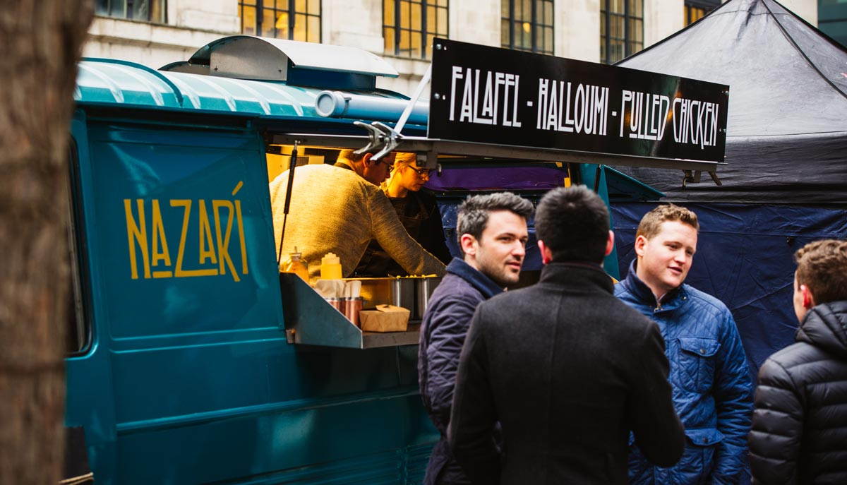 Van Nazari food - street falafel food in London, private events in London